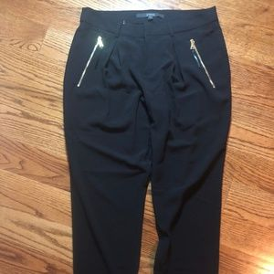 Guess Black Pants Gold Zippers 2